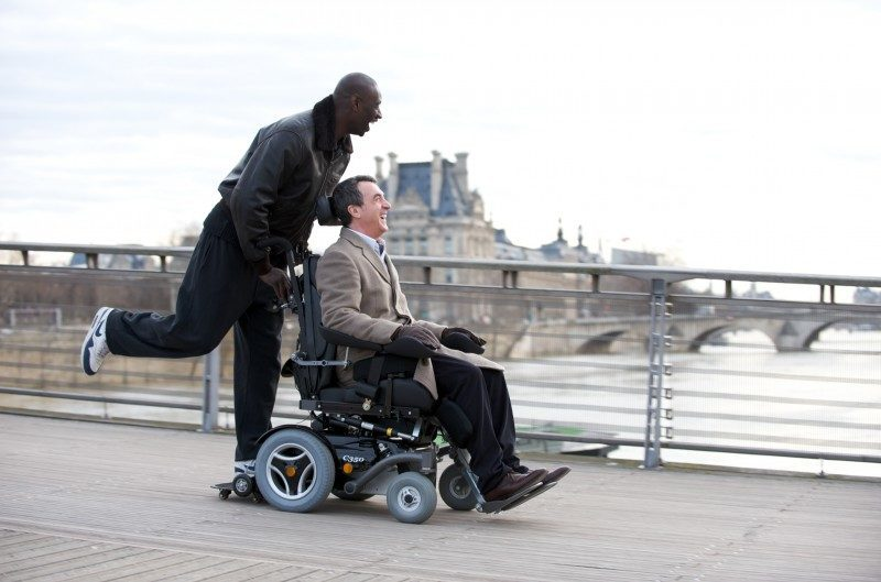 Philippe (François Cluzet) & Driss (Omar Sy) in THE INTOUCHABLES | Photo Credit: Alliance Films