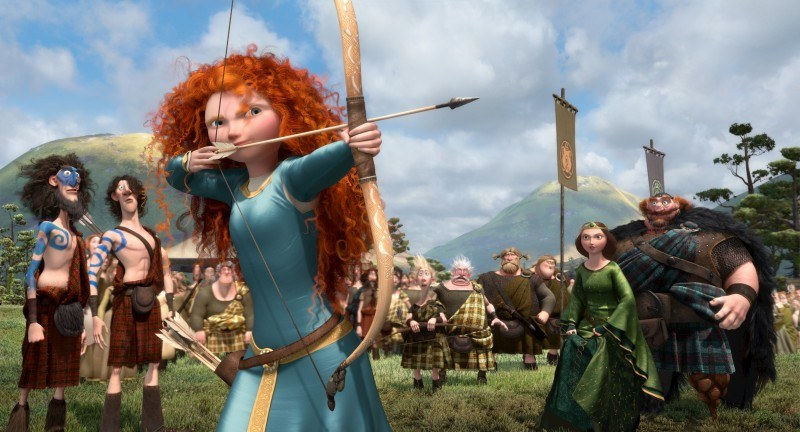 A still from Pixar's BRAVE