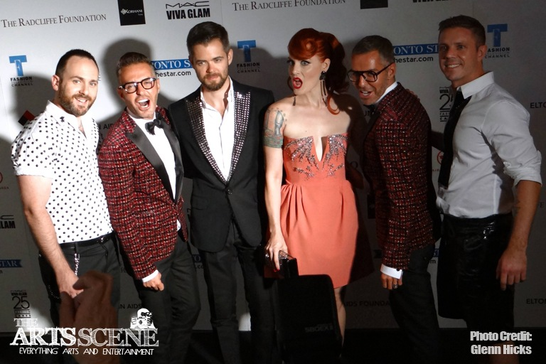 Scissor Sisters with Dean and Dan Caten - Fashion Cares 25 | Credit: Glenn Hicks