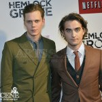 Bill Skarsgard & Landon Loboiron - Hemlock Grove Toronto Red Carpet Premiere
