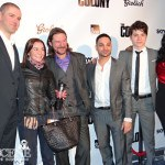 Dru Viergever, John Tench, Michael Mando, Atticus Mitchell, Lisa Berry - The Colony Red Carpet Premiere