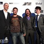 Dru Viergever, John Tench, Atticus Mitchell - The Colony Red Carpet Premiere