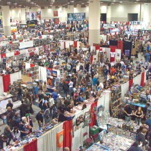Comic vendor booths at the Expo
