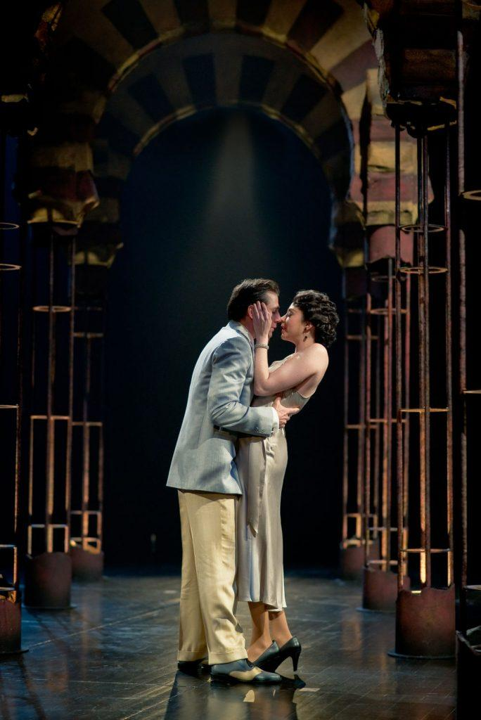 Cyrus Lane as Alsemero and Mikaela Davies as Beatrice-Joanna in The Changeling. Photography by Cylla von Tiedemann.