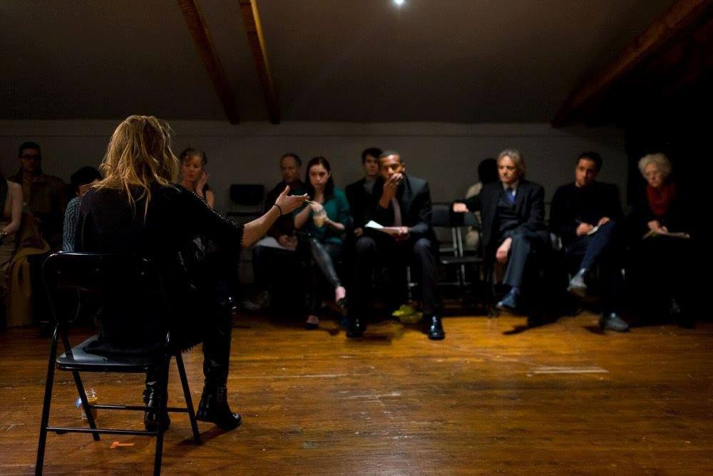 A still from a rehearsal of Richard the Second directed by Mikaela Davies, directed for The Secret Shakespeare series.