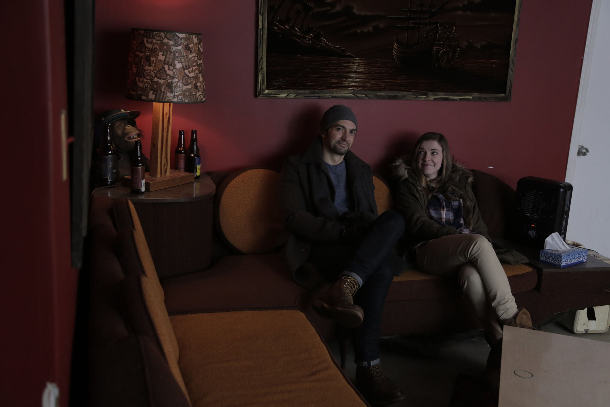 David Alpay and Sara Canning in 'Prodigals' | Courtesy: Michelle Ouellet
